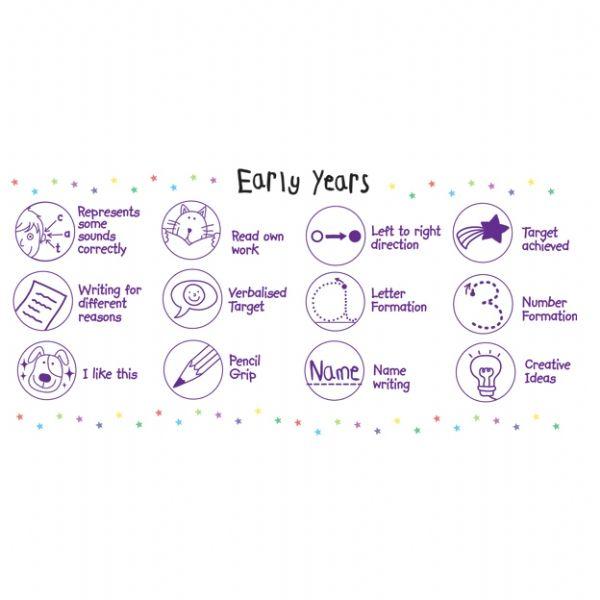 Pedagogs Eyfs Stampers In Purple Ink X 12