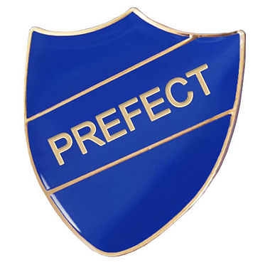 Prefect Enamel Badge - Blue (30mm x 26mm)