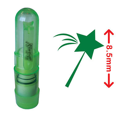 PUPIL GIFT IDEA Magic Wand Mini Stamper - Green Ink (8.5mm)