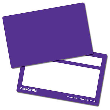 Purple Plastic CertifiCARDS (10 Wallet Size Cards)