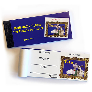 Raffle Tickets Merit Prize Wallace & Gromit - Book of 10