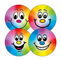 Rainbow Smiley Stickers (20 Stickers - 32mm)