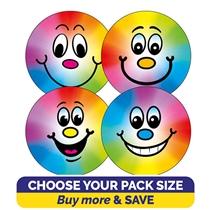 Rainbow Smiley Stickers (32mm) Brainwaves