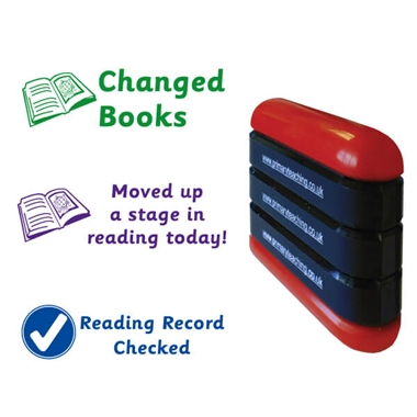 Reading 3-in-1 Stack & Stamp (Green, Purple & Blue)