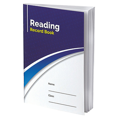 Reading Record Book (40 Pages, A5, Blue)