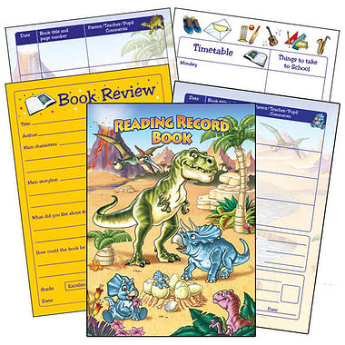 Reading Record Book - Dinosaurs (A5 - 40 Pages)