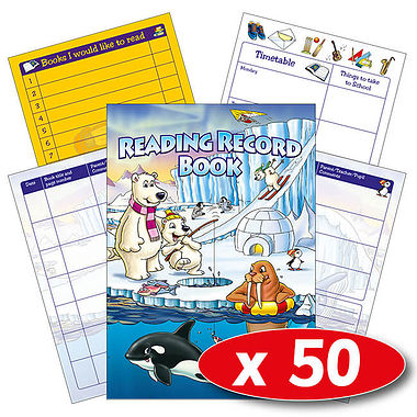 Reading Record Book - Polar (50 Books Included)