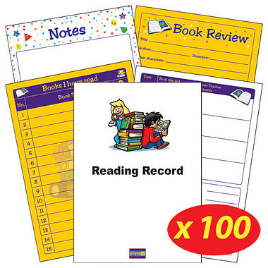 Reading Record Books - Children Themed (100 Books - A5)