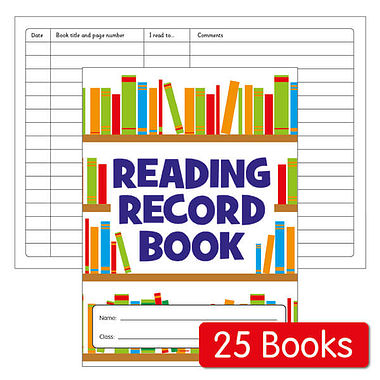 Reading Record Books - Value (25 Books Included)