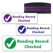 Reading Record Checked Stakz Stamper (44mm x 13mm)