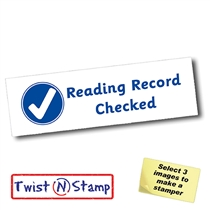Reading Record Checked Stamper - Twist N Stamp