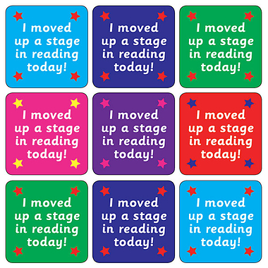 Reading Stage Stickers (35 Stickers - 20mm)