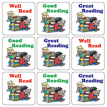 Reading Stickers (35 Stickers - 20mm)