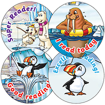 Reading Stickers - Polar Scene (35 Stickers - 37mm)
