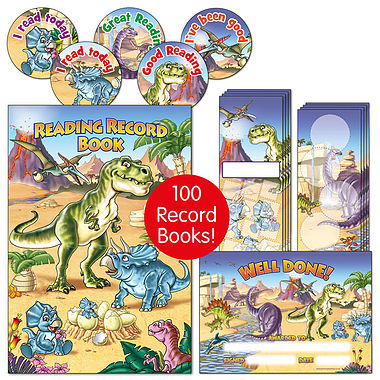 Reading Value Pack - Dinosaur (100 Record Books Included)