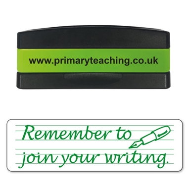 Remember to Join Your Writing Stakz Stamper - Green Ink (44mm x 13mm)