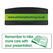 Remember to Take More Care With Your Presentation Stakz Stamper - Green Ink (44mm x 13mm)