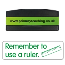 Remember to Use a Ruler Stakz Stamper - Green Ink (44mm x 13mm)
