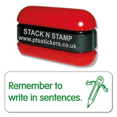 Remember to Write in Sentences Stack & Stamp - Green (38mm x 15mm)