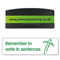 Remember to Write in Sentences Stakz Stamper - Green Ink (44mm x 13mm)