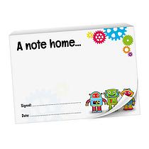 Robots Praisepad - A Note Home (60 Pages - A6)