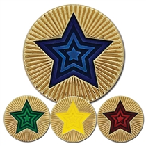 Round Star Enamel Badge (20mm)