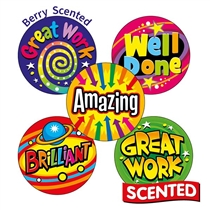 Scented Berry Stickers - Bright Words (30 Stickers - 25mm)