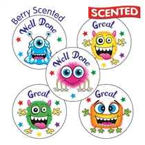 Scented BERRY Stickers - Monster (30 Stickers - 25mm)