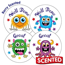 Scented Berry Stickers - Monsters (45 Stickers - 32mm)