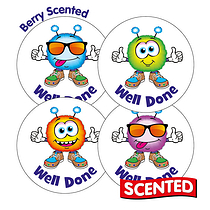 Scented Berry Stickers - Well Done Monsters (20 Stickers - 32mm)