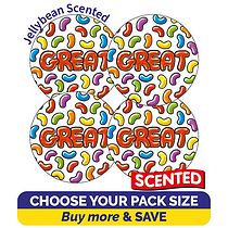 Scented Jellybean Stickers - Great (32mm)