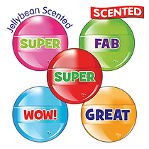 Scented Jellybean Stickers - Lollipop (30 Stickers - 25mm)