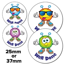 Scented Jellybean Stickers - Well Done Monsters