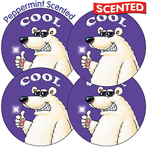 Scented Mint Stickers - Polar Bear (35 Stickers - 37mm)