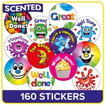Scented Stickers Value Pack (160 Stickers - 32mm)
