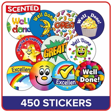 Scented Stickers Value Pack (270 Stickers - Various Sizes)