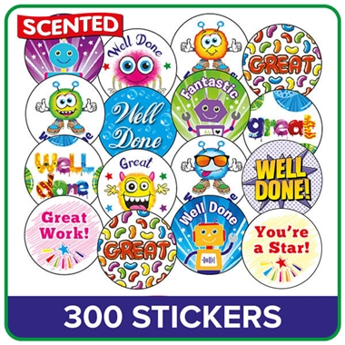 Scented Stickers Value Pack (300 Stickers - 25mm)