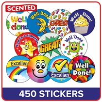 Scented Stickers Value Pack (465 Stickers - Various Sizes)