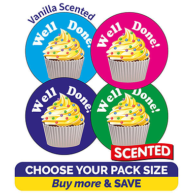 Scented Vanilla Stickers - Well Done (32mm)
