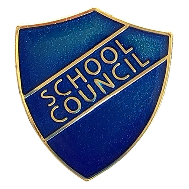 School Council Enamel Badge - Blue