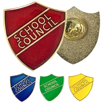 School Council Enamel Badge (Butterfly fastening)