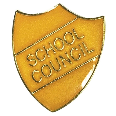 School Council Enamel Shield Badge - Gold