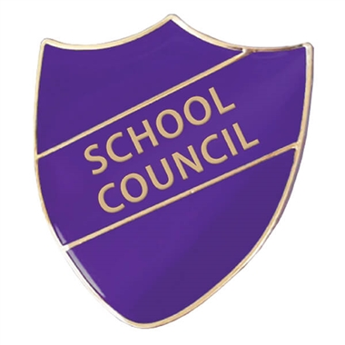 School Council Enamel Shield Badge - Purple
