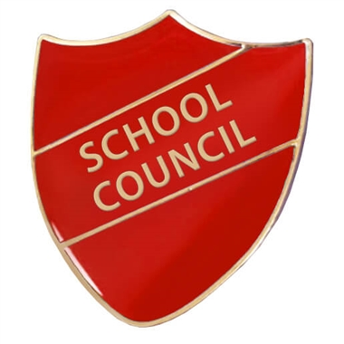 School Council Enamel Shield Badge - Red