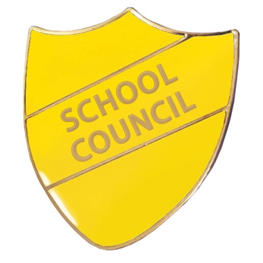 School Council Enamel Shield Badge - Yellow