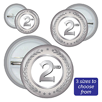 Second Badges - Silver (10 Badges)