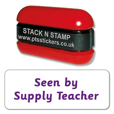 Seen by Supply Teacher Stack & Stamp - Purple Ink (38mm x 15mm)