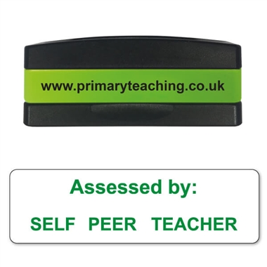 Self - Peer - Teacher Assessed Stakz Stamper - Green Ink (44mm x 13mm)