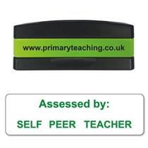 Self - Peer - Teacher Assessed Stakz Stamper - Green Ink (44mm x 13mm)
