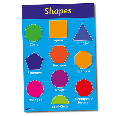 Shapes Paper Poster (A2 - 620mm x 420mm)